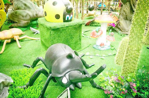春日鸣虫美陈包装 昆虫美陈 商场鸣虫美陈场景 鸣虫美陈场景厂家