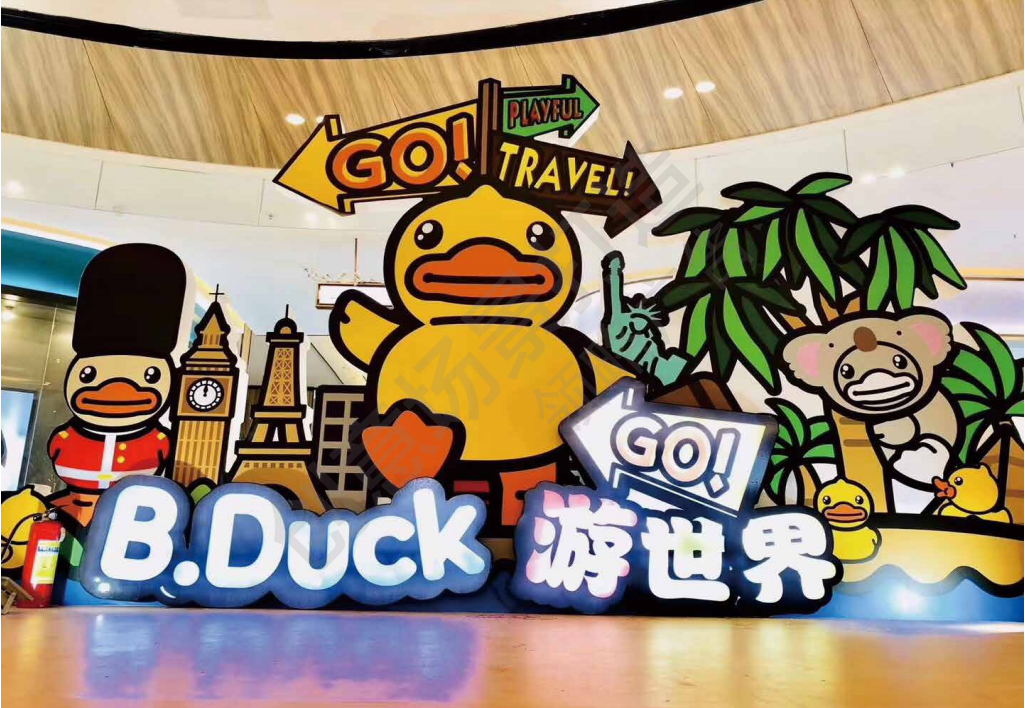 B.Duck小黄鸭美陈